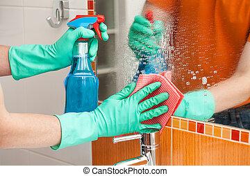 καθάρισμα , καθρέφτηs