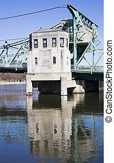 καθέκαστα , από , ιστορικός , γέφυρα , μέσα , joliet