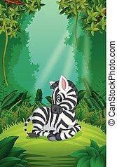 καθαρά , πράσινο , zebra, δάσοs