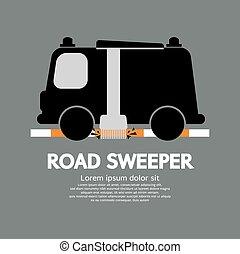 καθαριστής , άμαξα αυτοκίνητο. , δρόμοs
