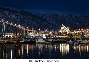 καθεδρικόs ναόs , αρκτικός , tromso , λιμάνι