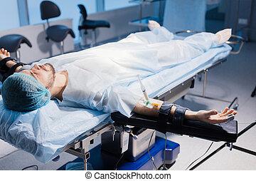 καθετήρας , ενδοφλεβικός , αρσενικό , βελόνα , κλυστήρ , αναφλεκτήρας , ασθενής