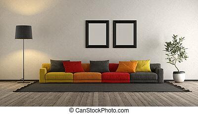 καθιστικό , γραφικός , καναπέs