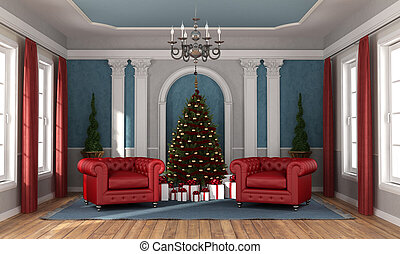 καθιστικό , πολυτέλεια , αναμονή , xριστούγεννα