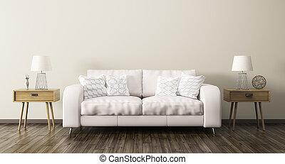 καθιστικό , render, καναπέs , εσωτερικός , 3d