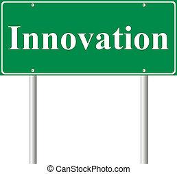 καινοτομία , δρόμος αναχωρώ , πράσινο , γενική ιδέα