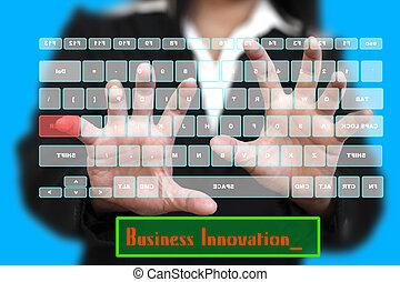 καινοτομία , επιχείρηση , κατ' ουσίαν καίτοι όχι πραγματικός , πληκτρολόγιο