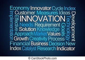 καινοτομία , λέξη , σύνεφο