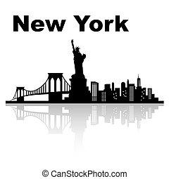 καινούργιος , γραμμή ορίζοντα , york