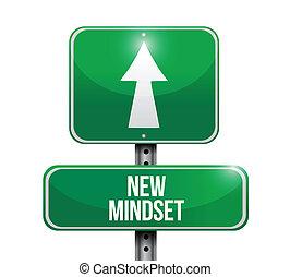 καινούργιος , δρόμοs , mindset , εικόνα , σήμα