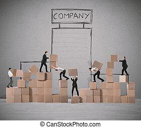 καινούργιος , εταιρεία , ζεύγος ζώων , businesspeople , χτίζω
