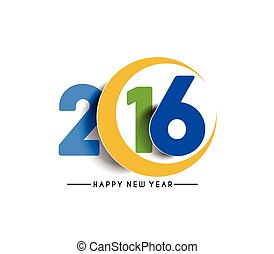καινούργιος , ευτυχισμένος , έτος , 2016