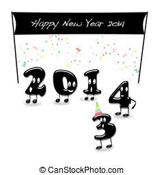 καινούργιος , ευτυχισμένος , 2014., έτος