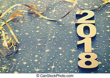 καινούργιος , ευτυχισμένος , 2018, έτος