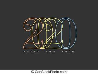 καινούργιος , κάρτα , μοντέρνος , ευτυχισμένος , minimalistic , μικροβιοφορέας , έτος