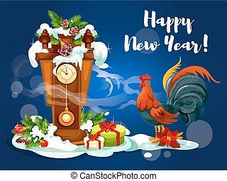 καινούργιος , κόκκοραs , έτος , κινέζα , ρολόι
