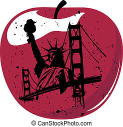 καινούργιος , μήλο , μεγάλος , york
