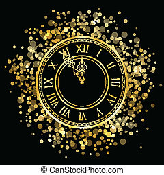 καινούργιος , μικροβιοφορέας , έτος , χρυσός , ρολόι