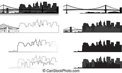 καινούργιος , περίγραμμα , york , πόλη