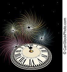 καινούργιος , πυροτεχνήματα , ευτυχισμένος , έτος