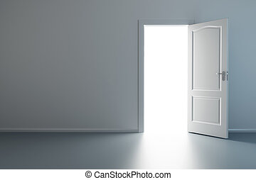 καινούργιος , πόρτα , δωμάτιο , αδειάζω , ανοιγμένα