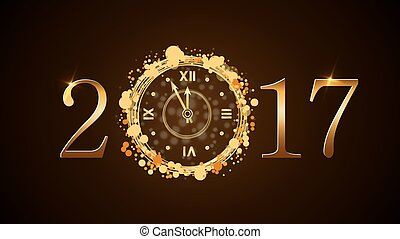 καινούργιος , ρολόι , ευτυχισμένος , έτος