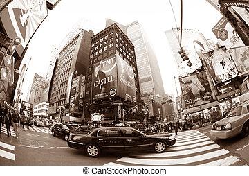καινούργιος , φορές , york , square., πόλη