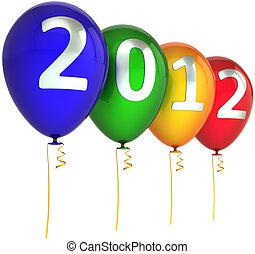 καινούργιος , 2012, μπαλόνι , ευτυχισμένος , έτος
