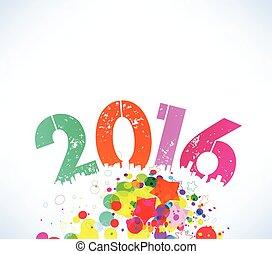 καινούργιος , 2016, ευτυχισμένος , γραφικός , έτος