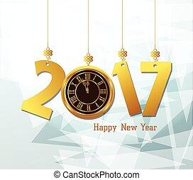 καινούργιος , 2017, έτος , ευτυχισμένος , ρολόι