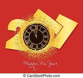 καινούργιος , 2017, έτος , λαμπερός , ρολόι