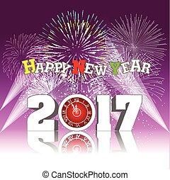 καινούργιος , 2017, πυροτέχνημα , ευτυχισμένος , έτος