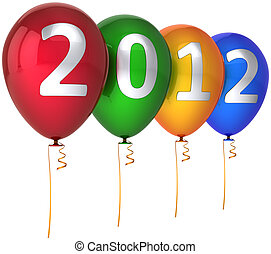 καινούργιος , multicolor , 2012, μπαλόνι , έτος
