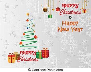 καινούργιος , xριστούγεννα , μικροβιοφορέας , εύθυμος , εικόνα , year., ευτυχισμένος
