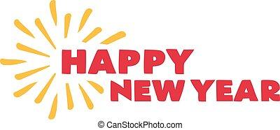 καινούργιος , year., firework., ευτυχισμένος
