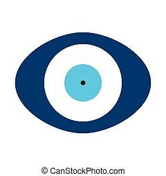 κακό μάτι , ωάριο , σχήμα , μικροβιοφορέας , μπλε