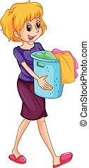 καλαθοσφαίριση , γυναίκα , άγω , μπουγάδα