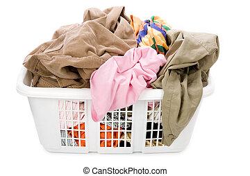 καλαθοσφαίριση , μπουγάδα , ρουχισμόs , βρώμικος