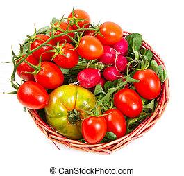 καλαθοσφαίριση , ντομάτες