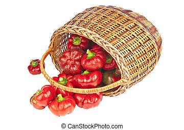 καλαθοσφαίριση , πιπέρι , αγαθός φόντο , κόκκινο