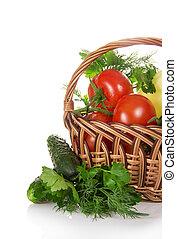 καλαθοσφαίριση , πιπέρι , ντομάτες