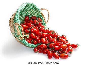 καλαθοσφαίριση , φρέσκος , άσπρο , ντομάτες , φόντο