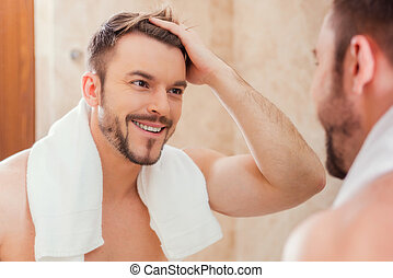 καλημέρα , να , me., ωραία , νέοs άντραs , αφορών , δικός...