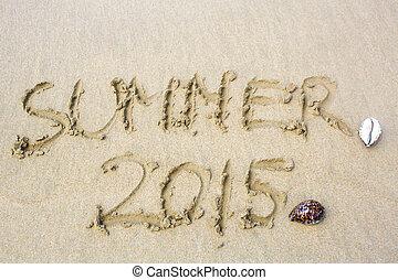 καλοκαίρι , άμμοs , λέξη , επιγραφή