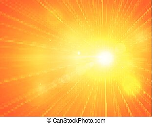 καλοκαίρι , ήλιοs , κίτρινο , burst., ελαφρείς