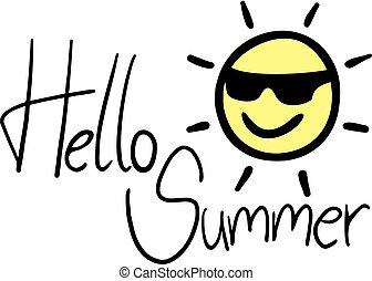 καλοκαίρι , γειά , καλός , μήνυμα