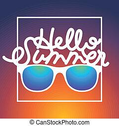 καλοκαίρι , γυαλλιά ηλίου , εδάφιο , rbackground, θερινή ώρα...