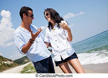 καλοκαίρι , ζευγάρι , παραλία