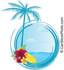 καλοκαίρι , λουλούδια , σημαία , στρογγυλός