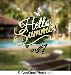 καλοκαίρι , μήνυμα , γειά